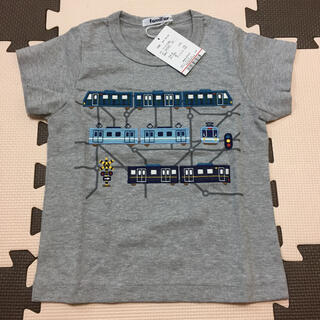 familiar - 新品タグ有♡ familiar ファミリア Tシャツ 100 グレー 電車