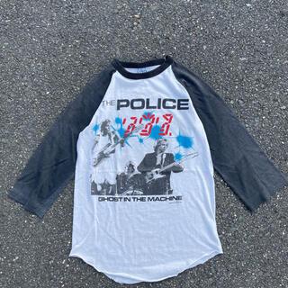 the police 1982年ツアー ラグラン Tシャツ(Tシャツ/カットソー(七分/長袖))