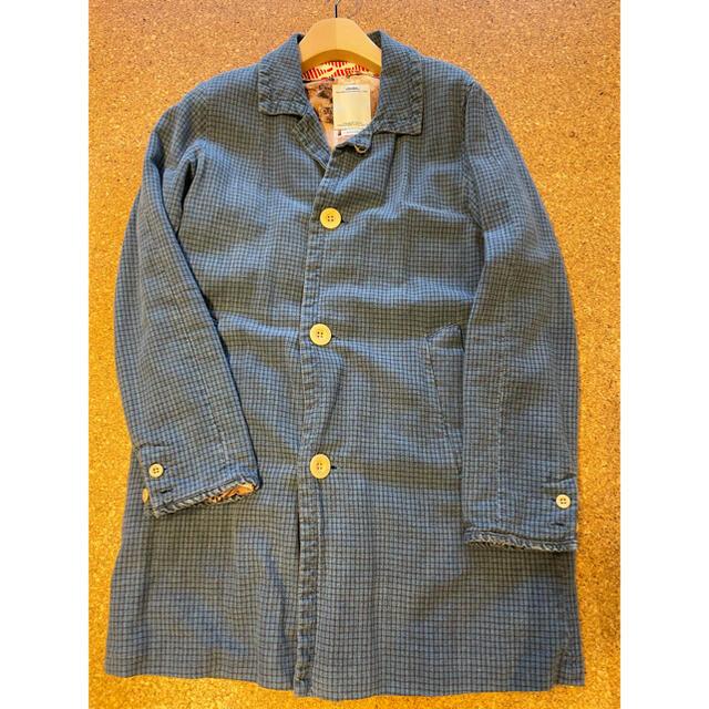 VISVIM(ヴィスヴィム)のvisvim mies coat indigo check サイズ1 メンズのジャケット/アウター(ステンカラーコート)の商品写真