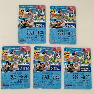 ディズニー(Disney)のディズニー リゾートライン 2day 大人4枚 こども1枚(その他)