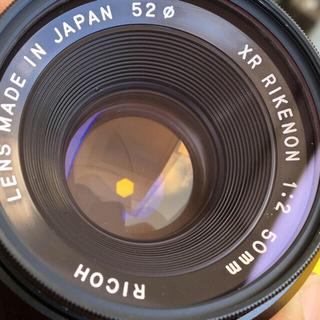 リコー(RICOH)のRICOH XR50/F2 和製ズミクロン 第一世代金属製 光学美品 良品(レンズ(単焦点))