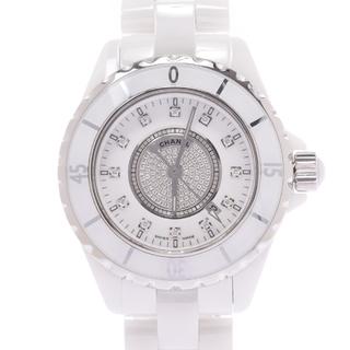 シャネル(CHANEL)のシャネル  J12 33mm センターダイヤ 12ダイヤ 腕時計(腕時計(アナログ))
