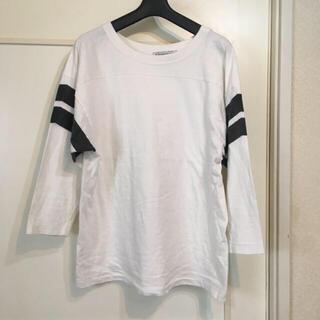 アメリカーナ(AMERICANA)のAmericana ライン入りロングTシャツ(Tシャツ(長袖/七分))