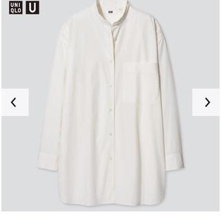 UNIQLO - UNIQLO ユニクロオーバーサイズシャツ長袖 新品 S  オフホワイト