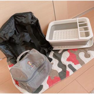 キッチン用品4点セット キッチンマット 保冷リュック 保冷バッグ 水切りカゴ(その他)