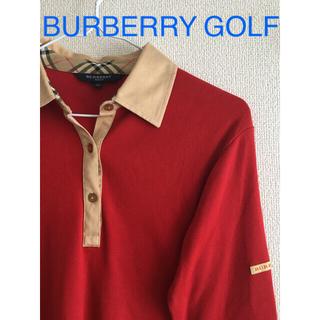 バーバリー(BURBERRY)のBURBERRY GOLF レッド×ノバチェック ポロシャツ(ポロシャツ)
