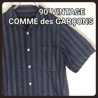 COMME des GARCONS HOMME PLUS - 【90' 希少】コムデギャルソンオムプリュス ストライプシャツ オーバーダイ