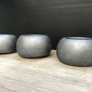 オシャレ セメント鉢アイアン塗装3点セット(プランター)