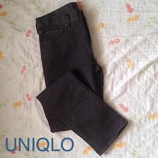ユニクロ(UNIQLO)のユニクロ ジーンズ  ストレート  美品 82センチ  (デニム/ジーンズ)