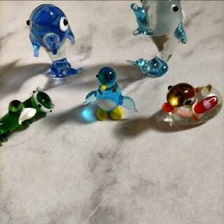 ガラス細工 海の生き物セット(ガラス)