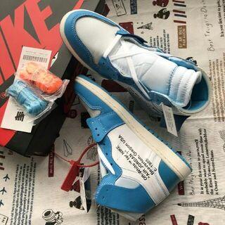 Nike Jordan 1 UNC OFF-WHITE  25cm(スニーカー)