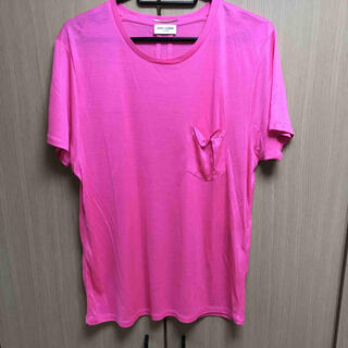 サンローラン(Saint Laurent)の正規 Saint Laurent サンローランパリ シルク Tシャツ(Tシャツ/カットソー(半袖/袖なし))