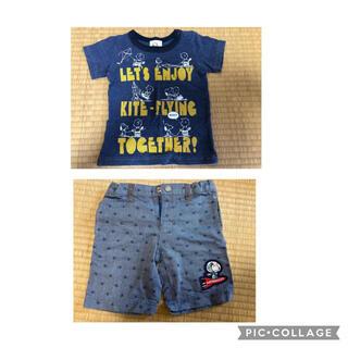 ファミリア(familiar)のファミリア スヌーピー90 Tシャツ ハーフパンツ セット(パンツ/スパッツ)