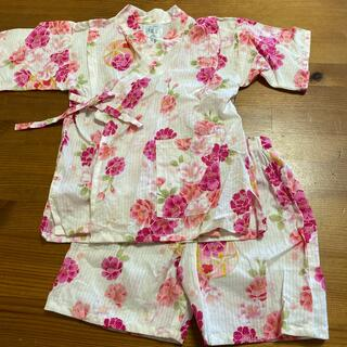 西松屋 - 甚平 花柄ピンク系 100 女の子