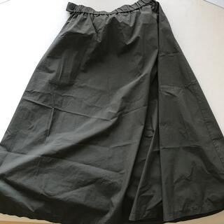 ムジルシリョウヒン(MUJI (無印良品))のカーキ マキシ スカート(ロングスカート)