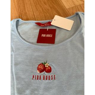 PINK HOUSE - PINK HOUSE 袖口リボンTシャツ