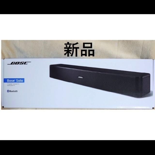 BOSE(ボーズ)の新品 BOSE Solo TV Speaker ブラック  正規品 スマホ/家電/カメラのオーディオ機器(スピーカー)の商品写真