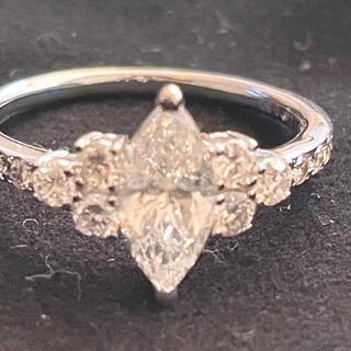 マーキスカット ダイヤモンド 1ct リング 14号