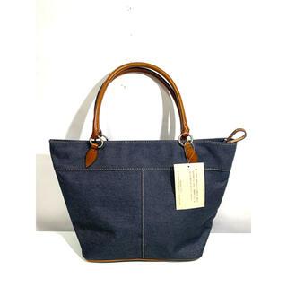 サザビー(SAZABY)のSAZABY カジュアルデザインデニムハンドバッグ 未使用 ネイビー(ハンドバッグ)