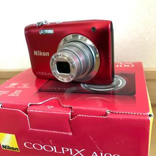 Nikon - Nikon COOLPIX  A100 red