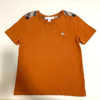 バーバリー(BURBERRY)のバーバリー Tシャツ 半袖 104cm オレンジ 男の子(Tシャツ/カットソー)