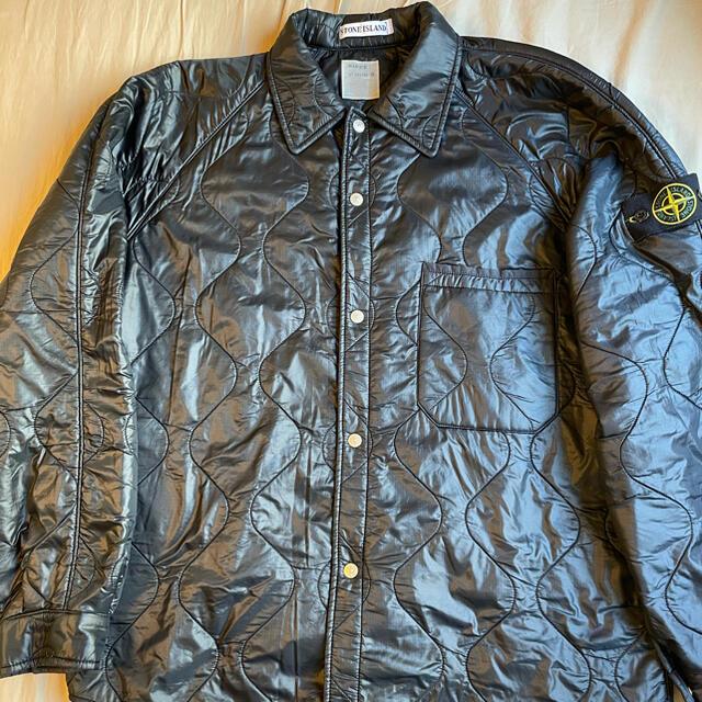 STONE ISLAND(ストーンアイランド)のStone island Nylon Quilted Puffer Shirt メンズのジャケット/アウター(ナイロンジャケット)の商品写真