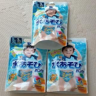 ユニチャーム(Unicharm)の【新品】水遊びパンツ Lサイズ 男の子用 9枚(ベビー紙おむつ)