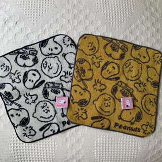 スヌーピー(SNOOPY)の《新品 タグ付き》スヌーピー     タオル ハンカチ 2枚セット(ハンカチ)