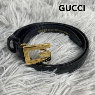 グッチ(Gucci)の●美品●GUCCI  グッチ Gバックル 細ベルト ゴールド(ベルト)