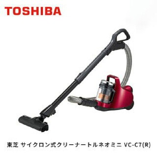 トウシバ(東芝)の東芝(TOSHIBA) サイクロン式クリーナー トルネオミニ VC-C7(R)(掃除機)