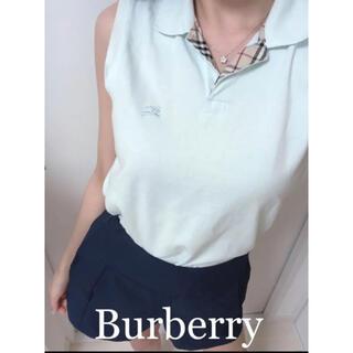 バーバリー(BURBERRY)のBurberry London ノースリーブ ポロシャツ ゴルフウエア(ポロシャツ)
