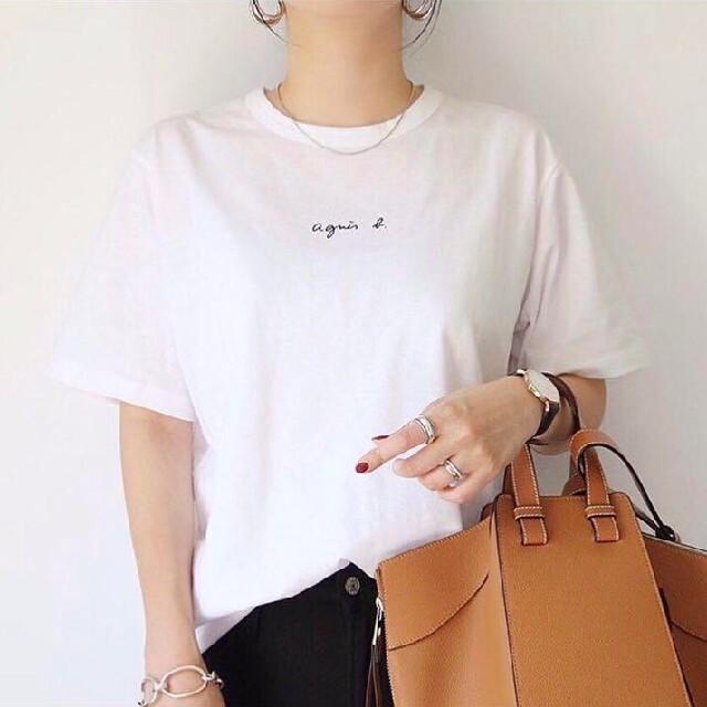 agnes b.(アニエスベー)のアニエスベー Agnes b Tシャツ Mサイズ  レディース ミニロゴ レディースのトップス(Tシャツ(半袖/袖なし))の商品写真