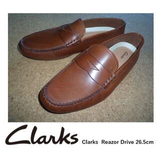 クラークス(Clarks)のClarks クラークス Reazor Drive 26.5cm ブラウン 新品(スリッポン/モカシン)