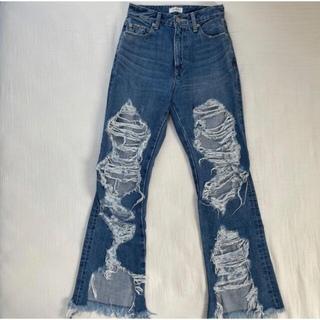 EVRIS - EVRIS ダメージブロークンデニムパンツ S