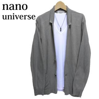 ナノユニバース(nano・universe)のnano universe テーラードジャケット  リネンジャケット グレー(テーラードジャケット)