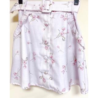 アンクルージュ(Ank Rouge)のアンクルージュチューリップ柄スカート(ミニスカート)
