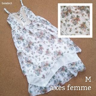axes femme - [axes femme/M]アクシーズファムボタニカルシフォンワンピース
