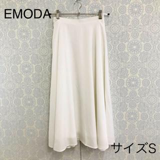 エモダ(EMODA)のエモダ ミディ丈 フレアスカート S ホワイト EMODA(ロングスカート)