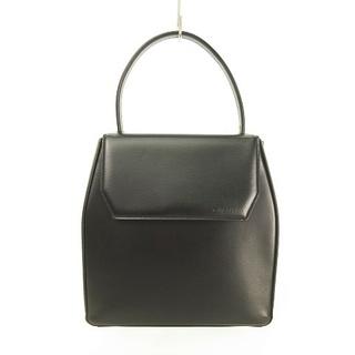ミラショーン(mila schon)のハンドバッグ ワンハンドル エンボスロゴ ブラックフォーマル 黒 ■WY(ハンドバッグ)