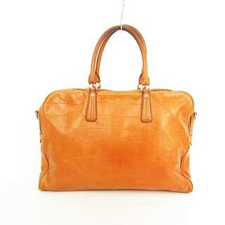 アニアリ(aniary)のアニアリ ビジネスバッグ ハンドバッグ 型押しレザー オレンジブラウン 本体のみ(ビジネスバッグ)