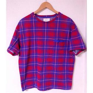 トゥモローランド(TOMORROWLAND)のTOMORROWLAND 赤×青 チェック Tシャツ(Tシャツ/カットソー(半袖/袖なし))