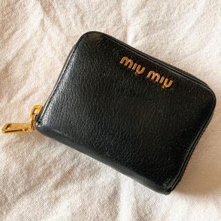 miumiu ミュウミュウ 財布 コインケース 黒 ブラック