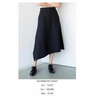 ハイク(HYKE)のHYKE アシンメトリースカート ブラック サイズ1(ひざ丈スカート)