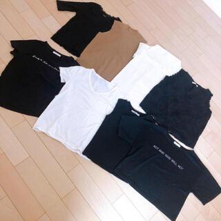 グレイル(GRL)のM F トップス  まとめ売り グレイル UNIQLO GU ロゴ レース(Tシャツ(半袖/袖なし))