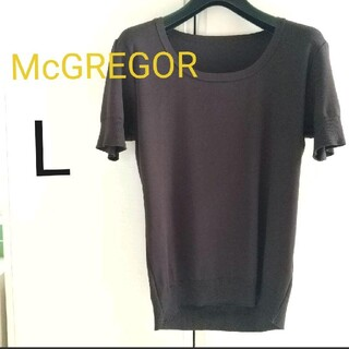 マックレガー(McGREGOR)のマックレガー 半袖Tシャツ L   焦げ茶色(カットソー(半袖/袖なし))