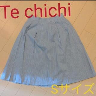 テチチ(Techichi)の新品タグ付き☆テチチ ストライプスカート(ひざ丈スカート)