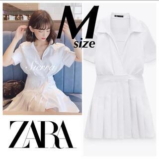 ZARA - 今季完売 ZARA 新品 ボックスプリーツジャンプスーツ ワンピース M