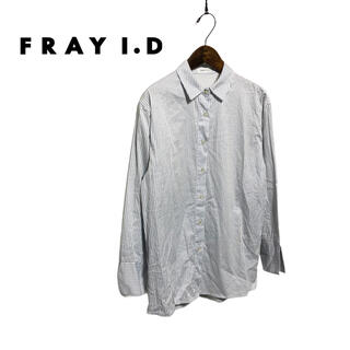 FRAY I.D - 【FRAY I.D】ブルーカラーシャツ