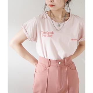フーズフーチコ(who's who Chico)のロゴ刺繍チビTシャツ(Tシャツ(半袖/袖なし))