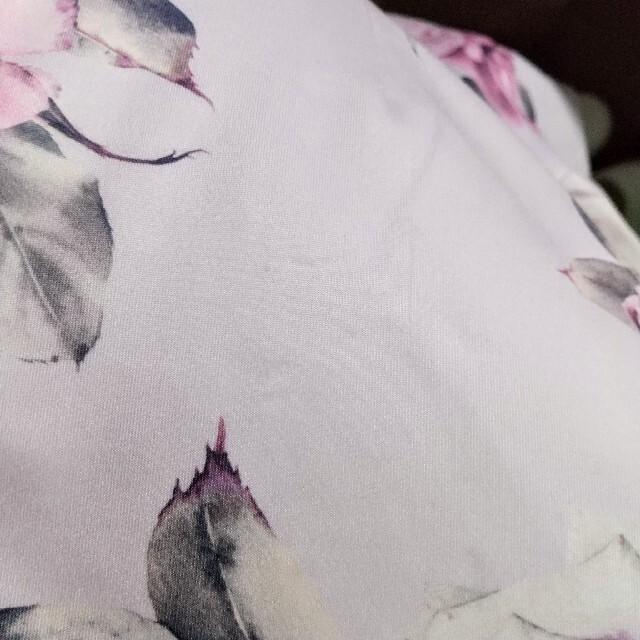 dazzy store(デイジーストア)のローズ柄 デコルテレース フリルオフショル風 タイト キャバドレス レディースのフォーマル/ドレス(ミニドレス)の商品写真